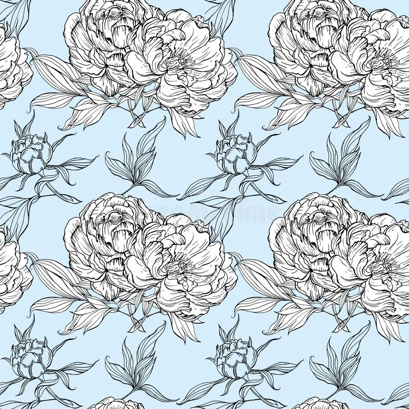 Grupo isolado de botões e de folhas da magnólia ilustração royalty free