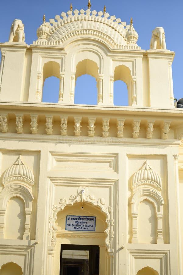 Grupo Jain de templos, Khajuraho, Índia imagens de stock royalty free