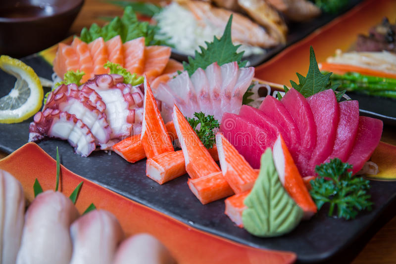 Grupo japonês do sushi foto de stock