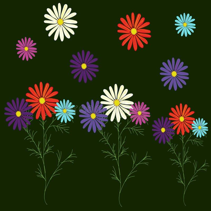 Grupo--jardim-margaridas - Cor-para-seu-projeto ilustração stock