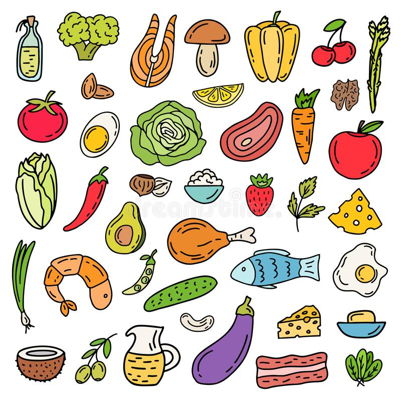 Grupo Ketogenic do ícone da dieta ilustração do vetor