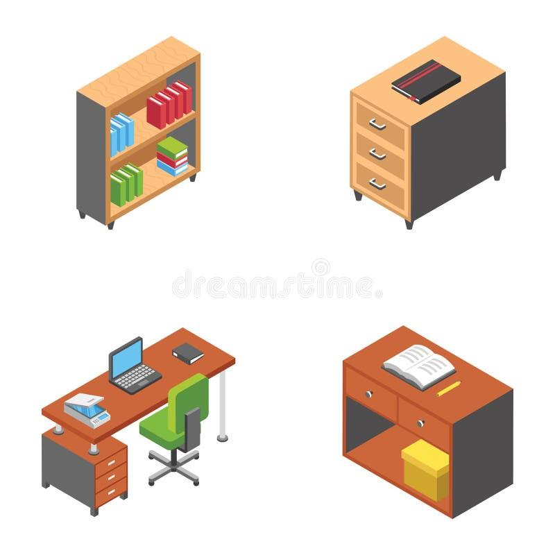 Grupo liso das ilustrações dos trabalhos em rede sociais ilustração stock
