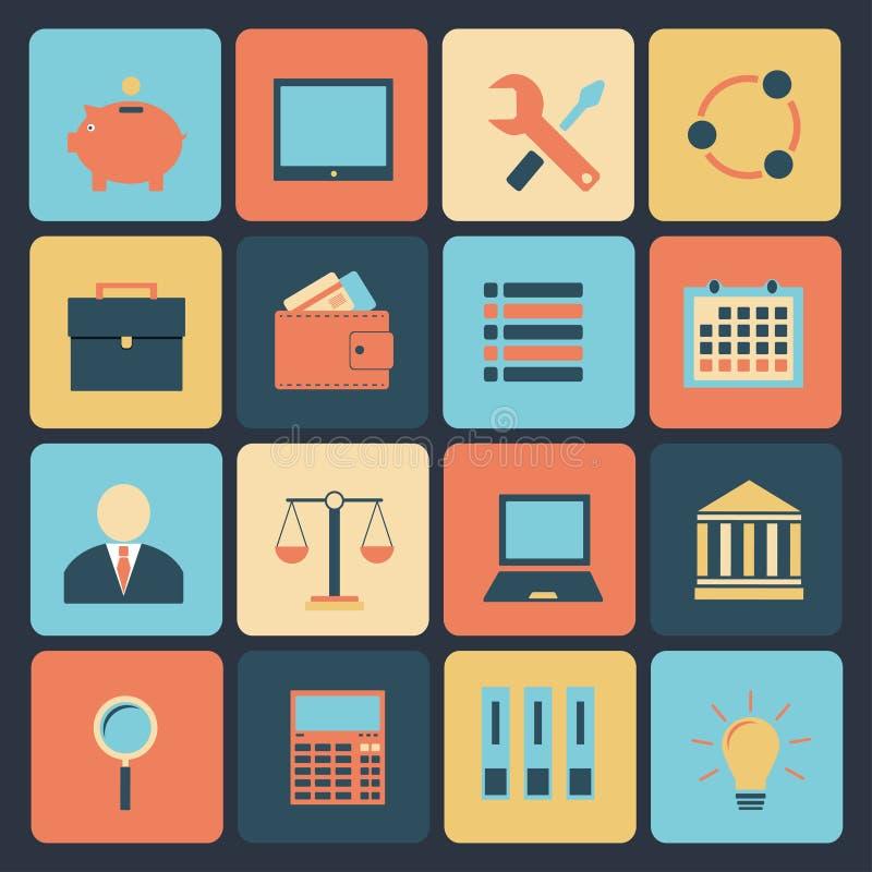 Grupo liso de ícones modernos do vetor. ilustração stock
