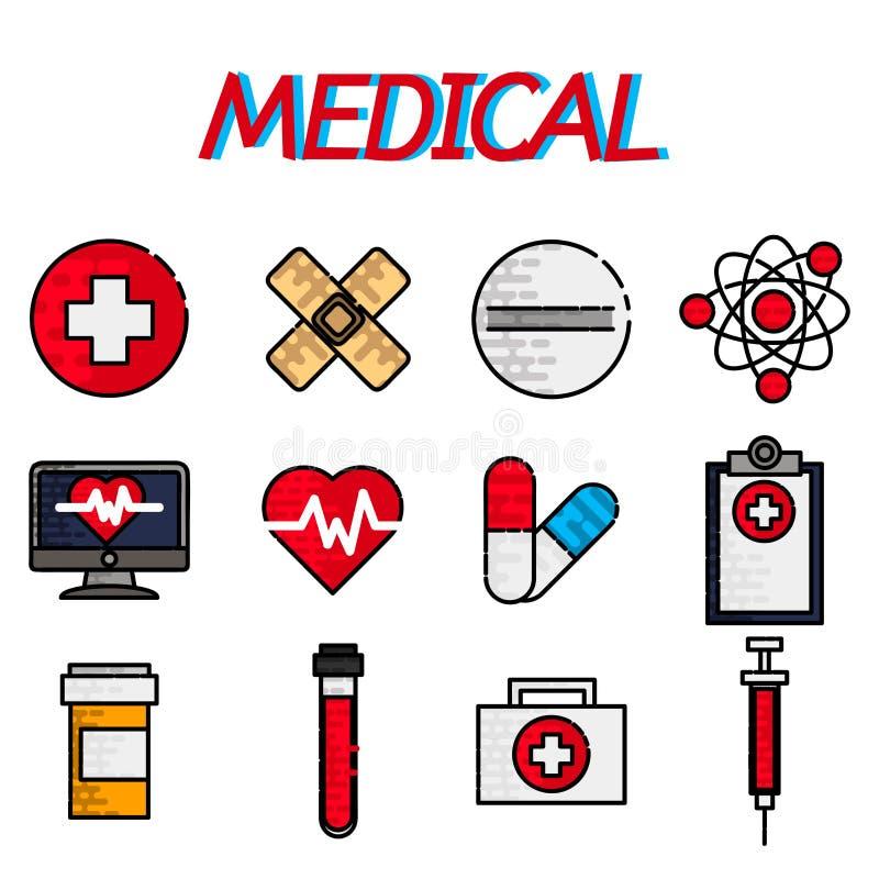 Grupo liso médico do ícone ilustração do vetor