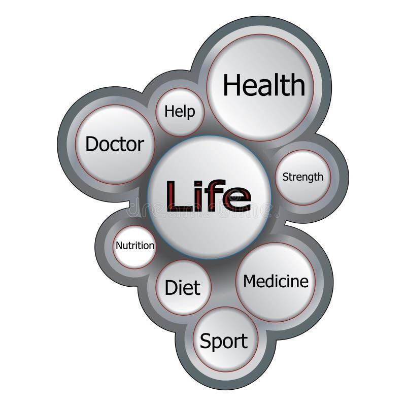 Grupo médico do ícone, fundo ilustração royalty free