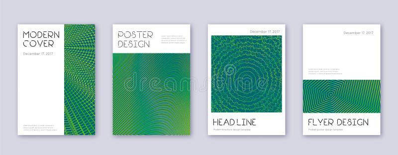 Grupo m?nimo do molde do projeto do folheto Abstra verde ilustração stock