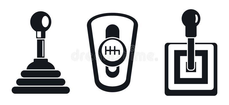Grupo manual do ícone da caixa de engrenagens, estilo simples ilustração do vetor