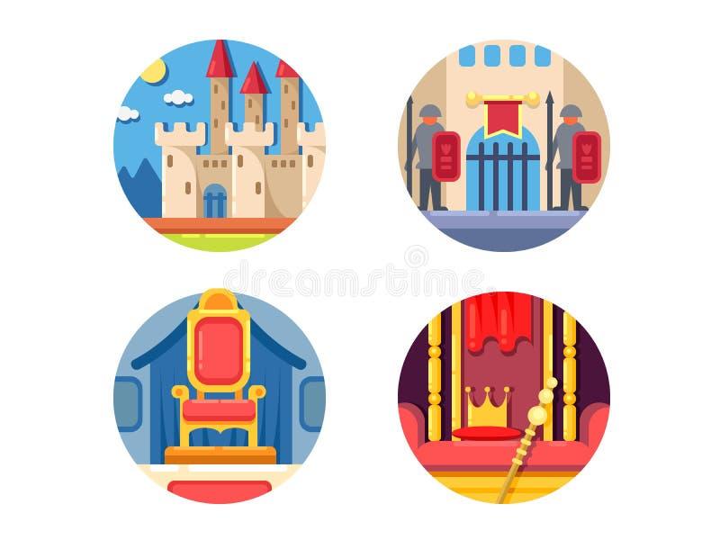 Grupo medieval do reino ilustração stock