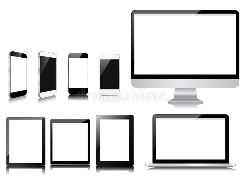 Grupo moderno do dispositivo do comunicador ilustração royalty free