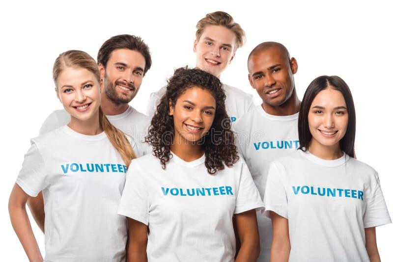 Grupo multiétnico de voluntarios fotografía de archivo libre de regalías