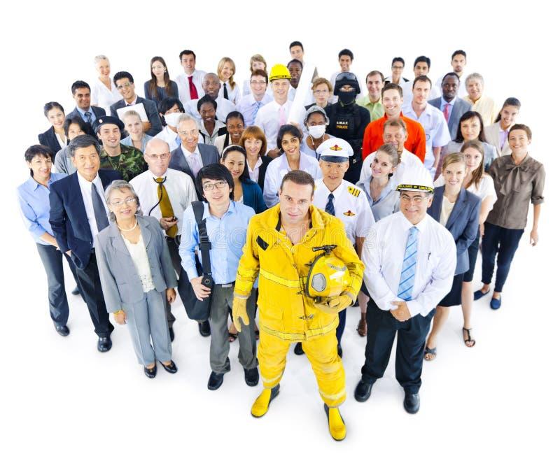 Grupo multi-étnico de povos profissionais da ocupação imagem de stock royalty free