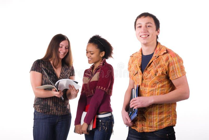 Download Grupo Multi-ethnic De Estudantes Imagem de Stock - Imagem de menina, humor: 12811513