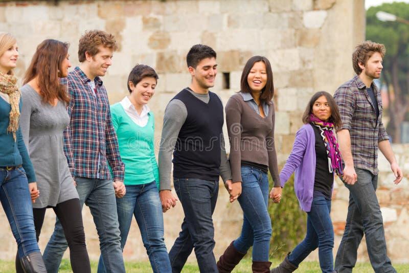 Grupo Multiracial imagem de stock