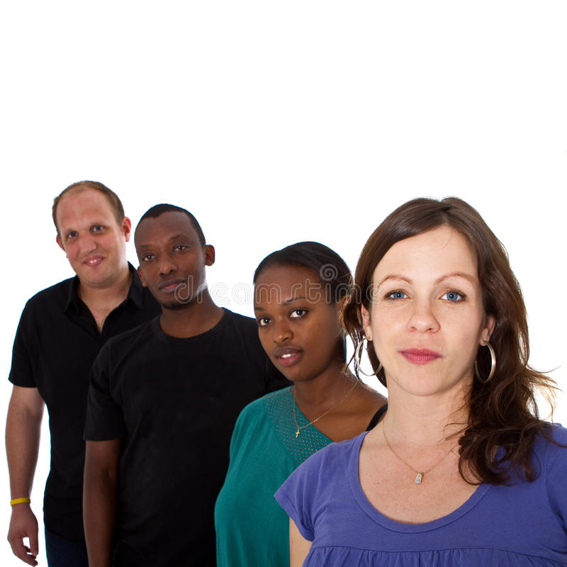 Grupo multiracial novo fotografia de stock
