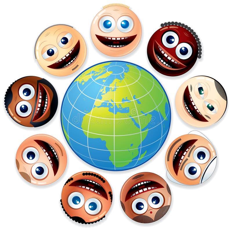 Grupo multirracial libre illustration