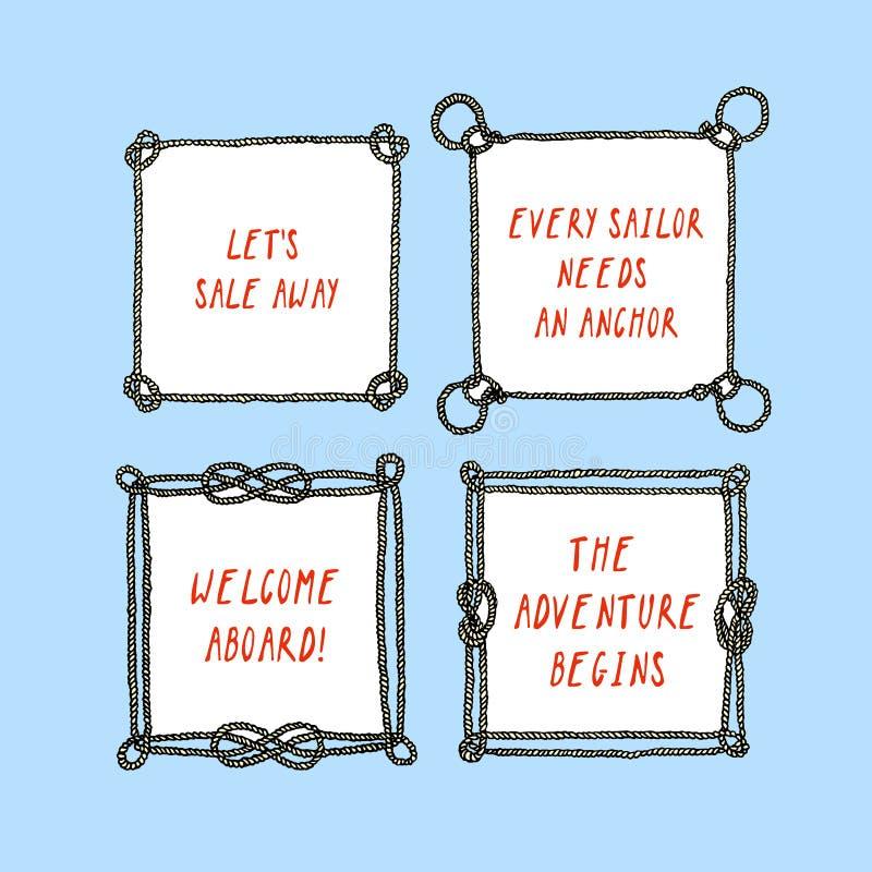 Grupo náutico do quadro ilustração royalty free