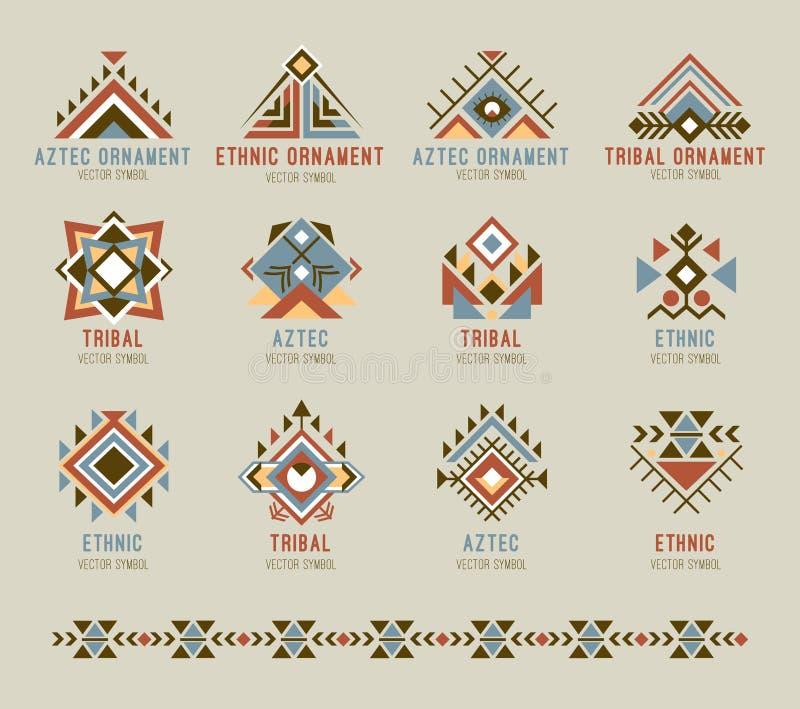 Grupo nativo tribal do teste padrão ilustração stock
