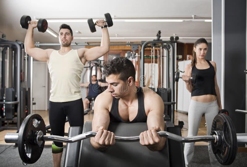 Grupo no gym fotos de stock royalty free