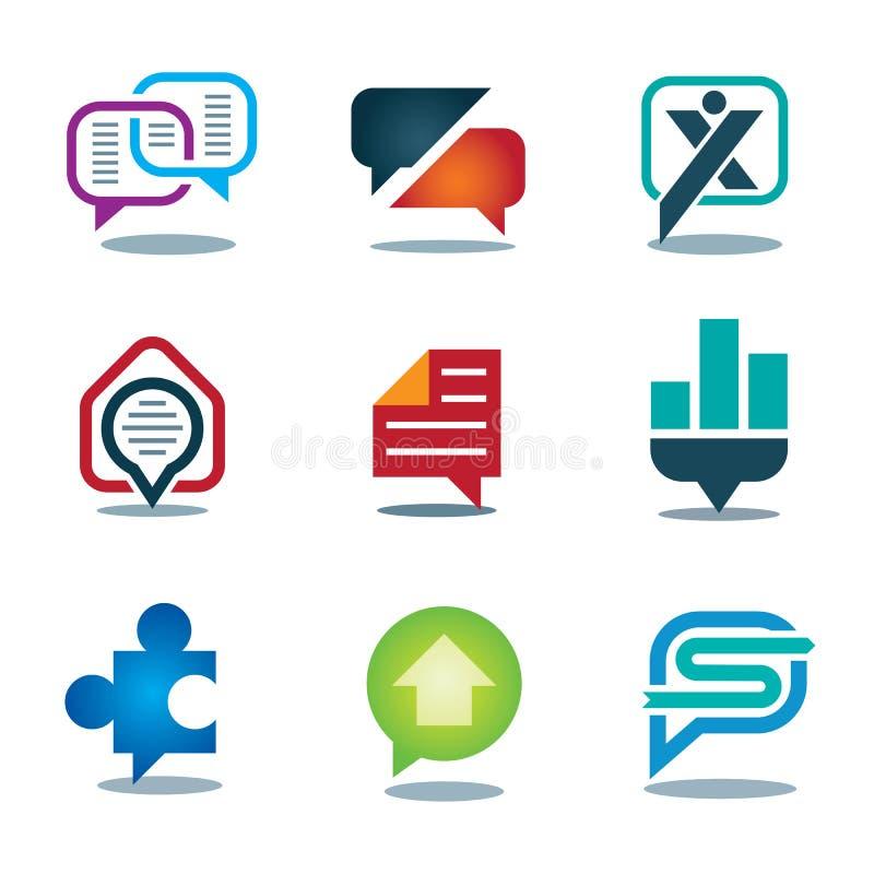 Grupo novo do ícone da mensagem da conversação do bate-papo de rede do social da juventude ilustração royalty free