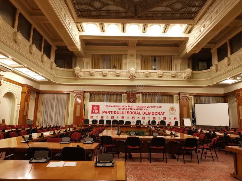 Grupo parlamentar do Partido Democratico Social, Romênia fotografia de stock royalty free