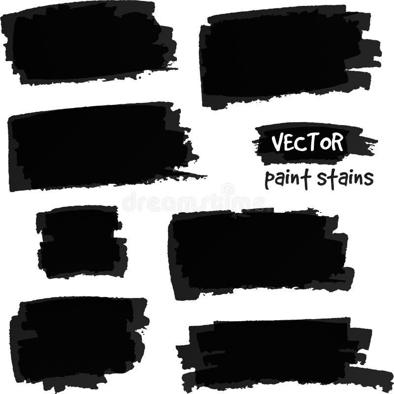 Grupo preto do vetor dos pontos da pintura ilustração royalty free