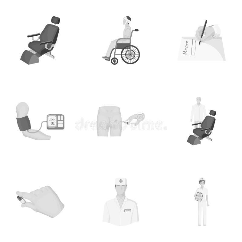 grupo relacionado médico do ícone ilustração do vetor