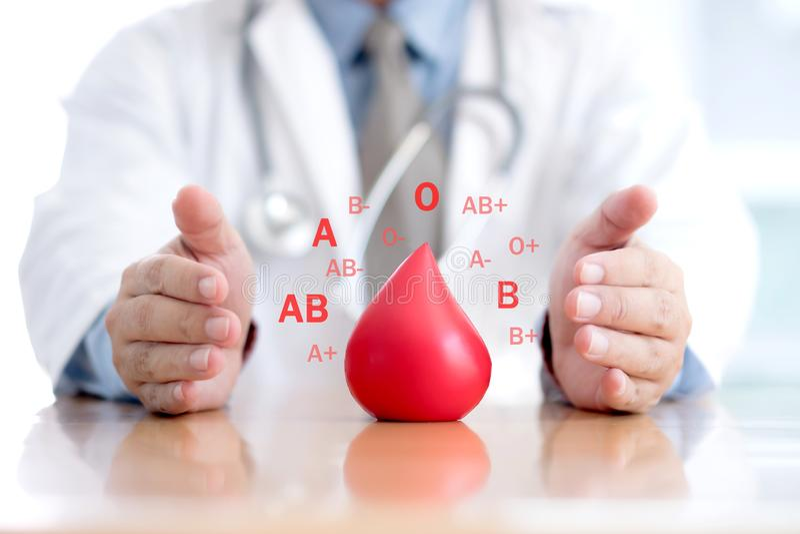 Grupo sanguíneo doe//doutor imagem de stock royalty free