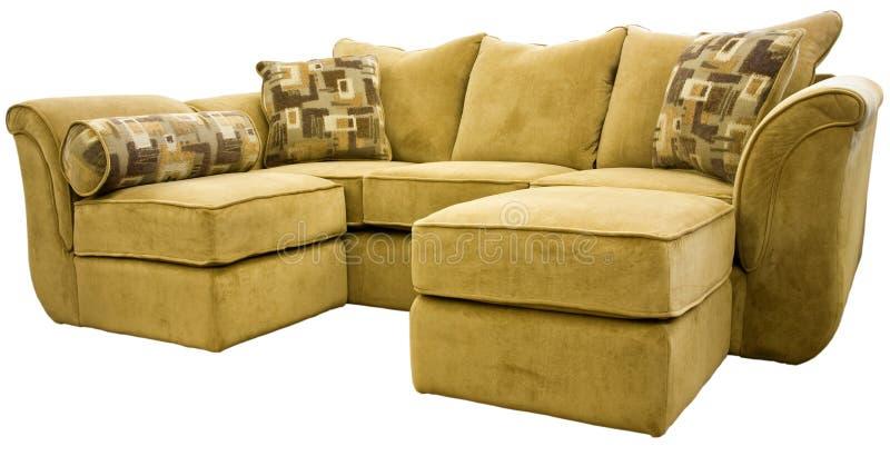 Grupo secional do sofá com otomano fotografia de stock royalty free