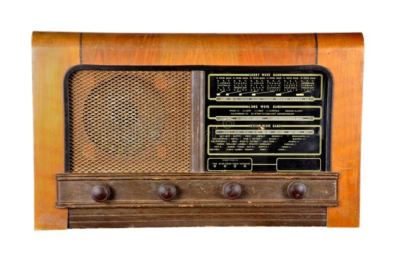 Grupo sem fio doméstico velho do receptor de rádio fotos de stock