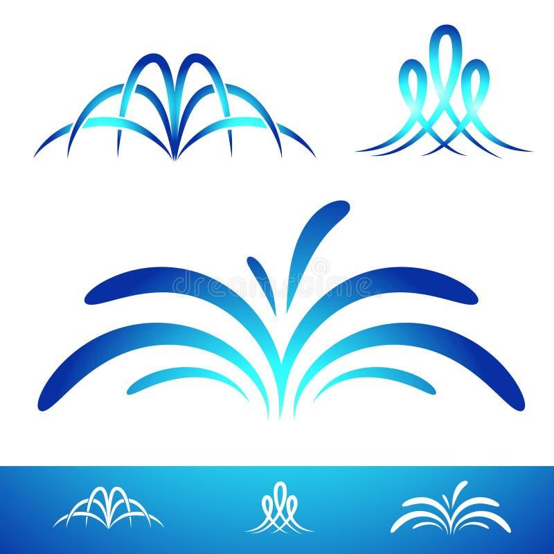 Grupo simples da fonte ilustração royalty free