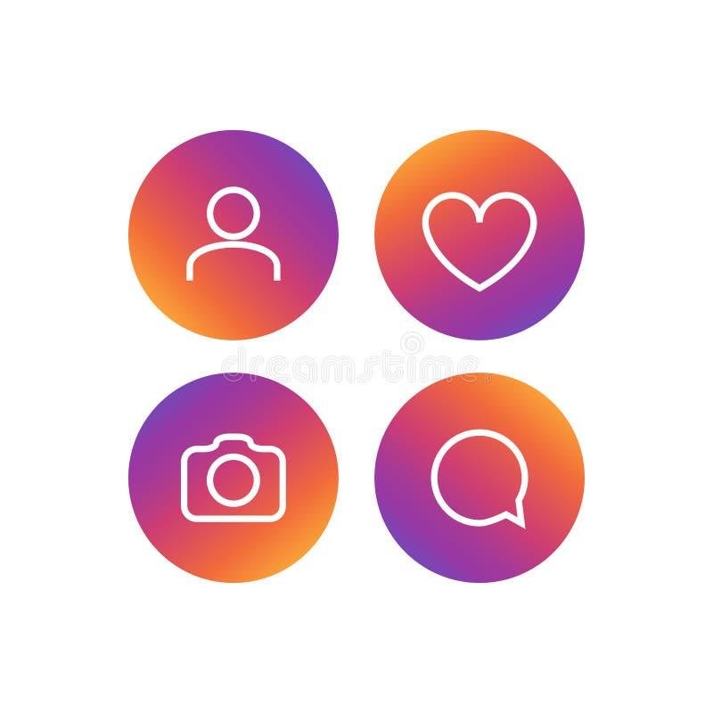 Grupo social do ícone do vetor da rede Seguidores, comentários, foto, gostos Elemento social do símbolo dos povos dos meios ilustração stock