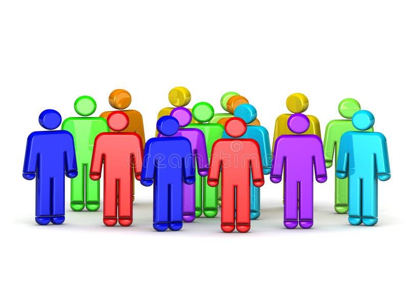 Grupo social dos povos fotos de stock