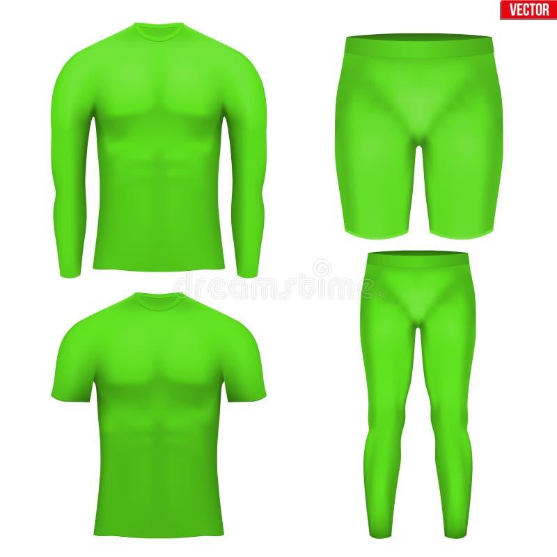 Grupo térmico da compressão da camada do roupa interior ilustração do vetor