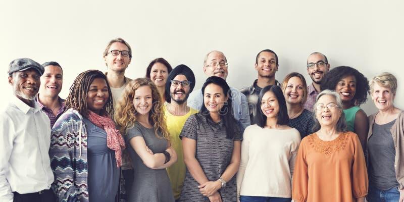 Grupo Team Union Concept dos povos da diversidade foto de stock royalty free