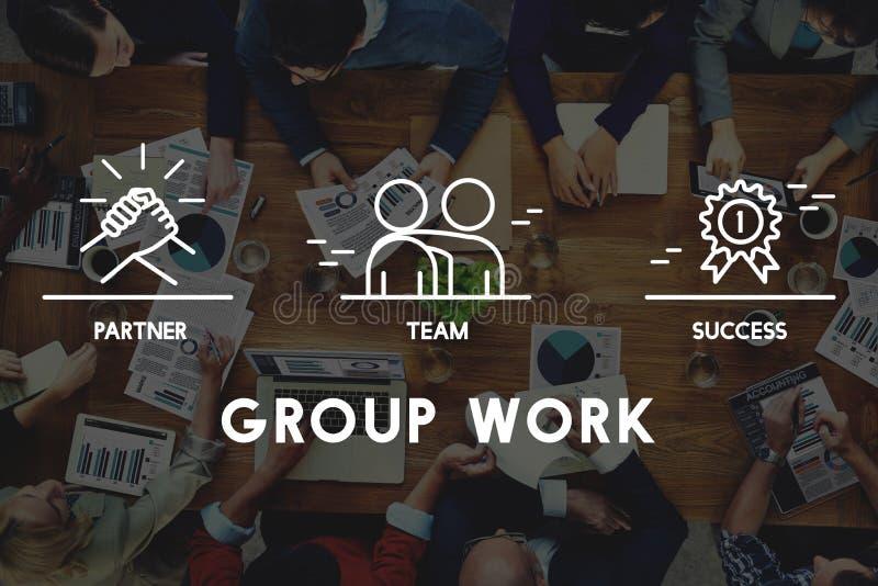 Grupo Team Work Organization Concept libre illustration