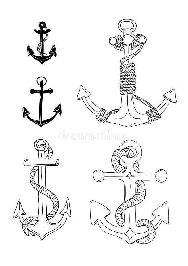 Grupo da âncora ilustração royalty free