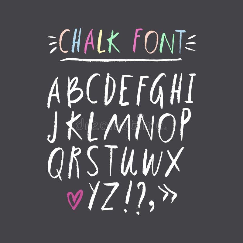 Grupo tirado mão da fonte ABC, alfabeto Clipart, letras isoladas do vetor e elementos da decoração ilustração royalty free