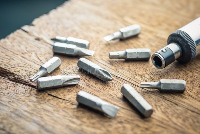 Grupo variável da cabeça de chave de fenda imagens de stock