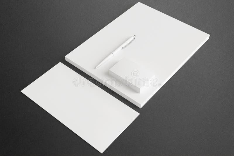 Grupo vazio da identificação dos artigos de papelaria para seu projeto ilustração do vetor