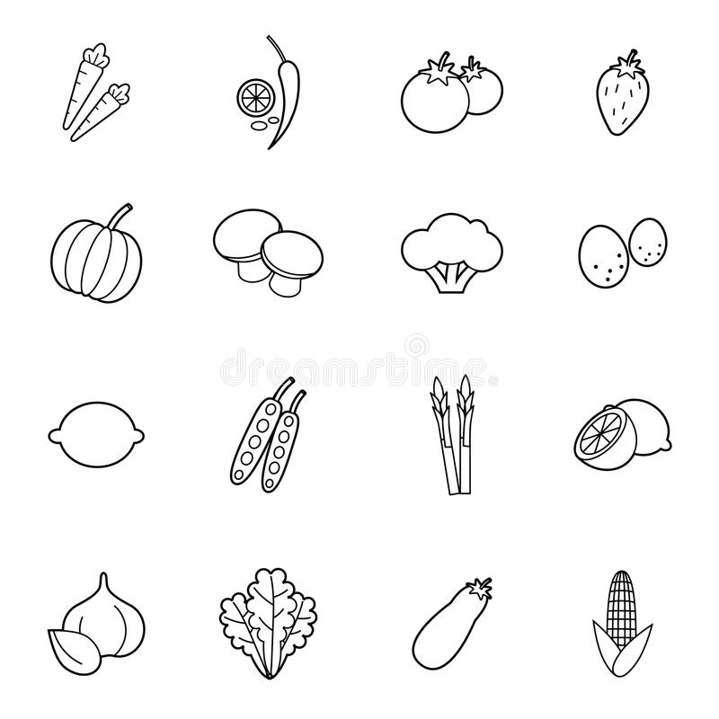 Grupo vegetal do ícone do vetor ilustração royalty free