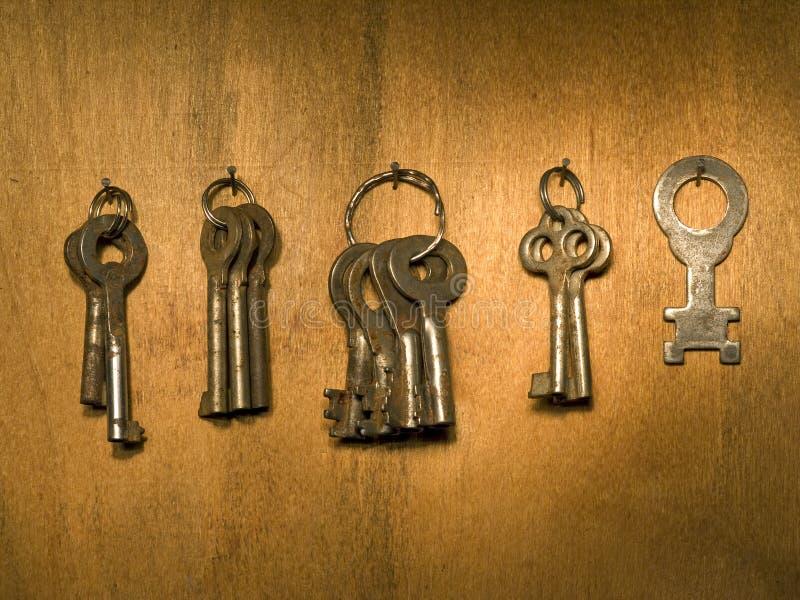 Grupo velho das chaves. fotografia de stock royalty free