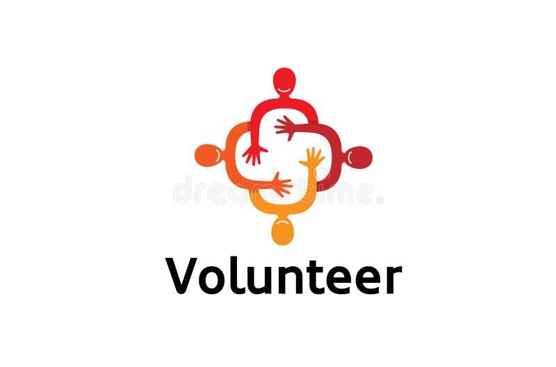 Grupo vermelho colorido criativo Team Logo Design Symbol dos povos ilustração royalty free