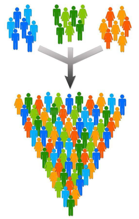 Grupos stock de ilustración
