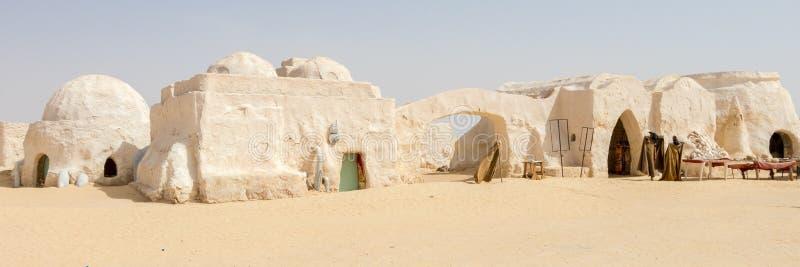 Grupos abandonados do filme de Star Wars no deserto de Sahara fotografia de stock royalty free