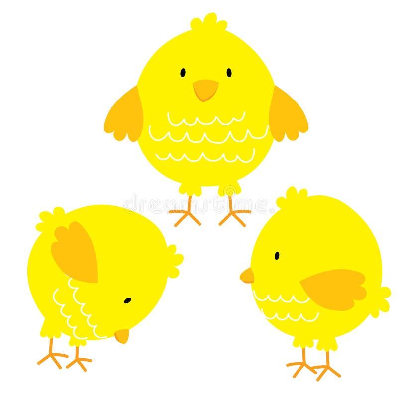 Grupos bonitos da galinha ilustração stock