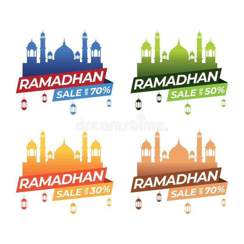Grupos da bandeira da ramadã ilustração do vetor