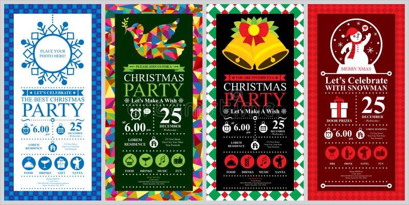 Grupos de cartão do convite da festa de Natal