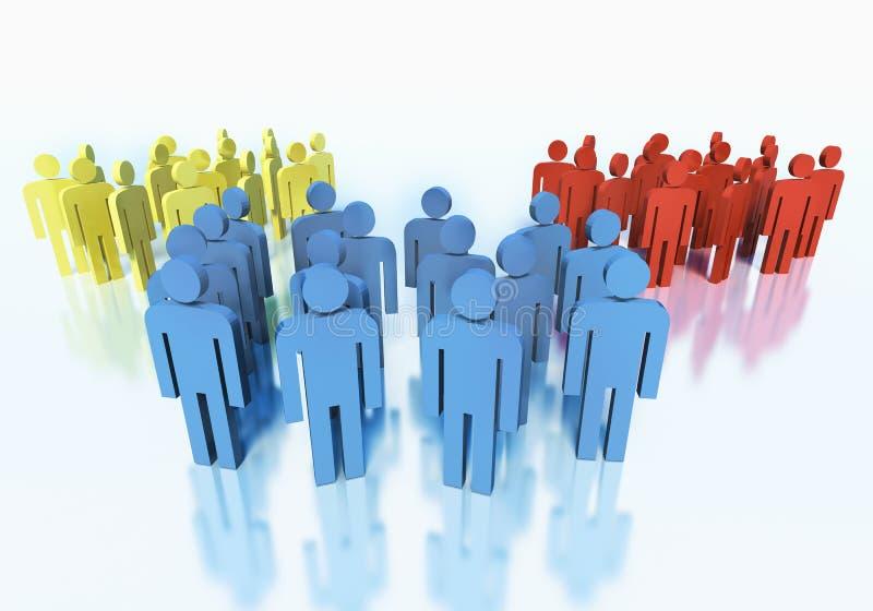 Grupos de personas - concepto del equipo del negocio stock de ilustración