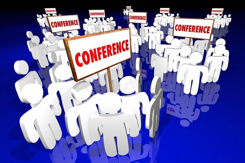 Grupos do registro dos participantes das feiras profissionais das conferências ilustração royalty free