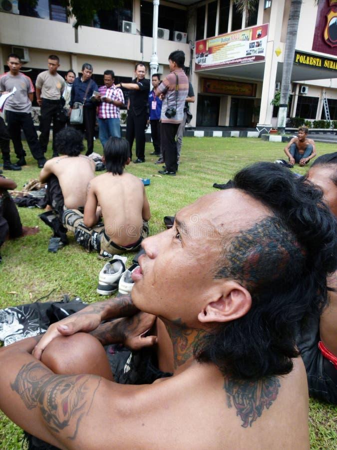 Grupos prendidos polícia fotos de stock royalty free